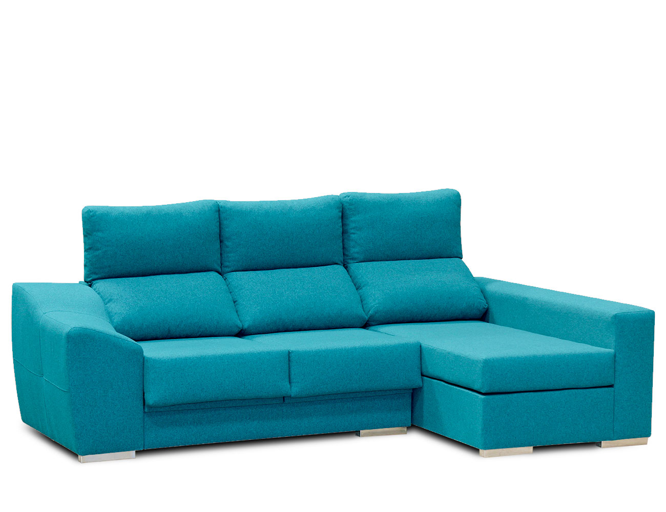 Sofa chaiselongue moderno turquesa 1