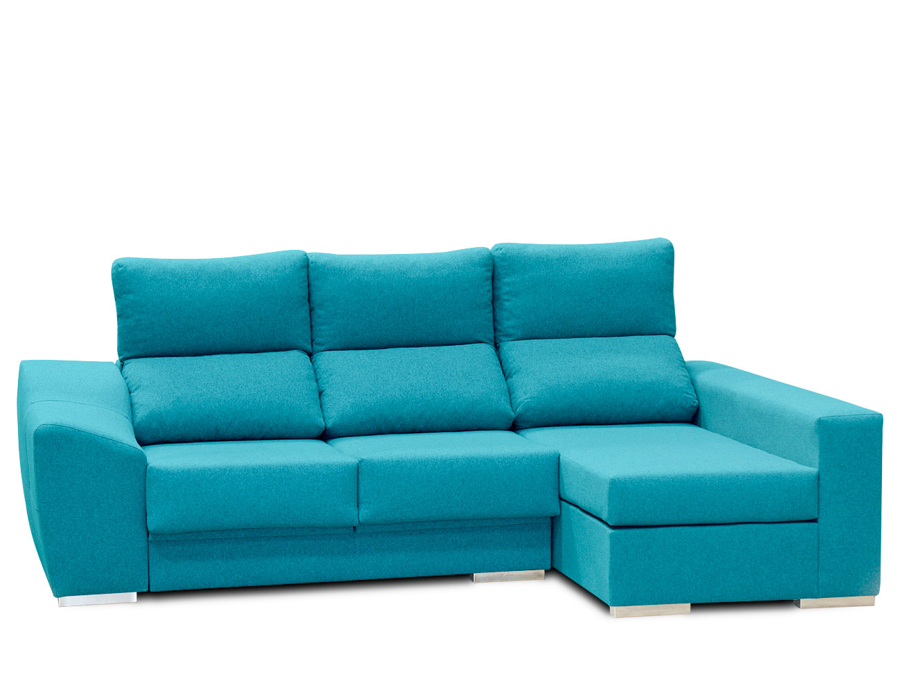 Sofa chaiselongue moderno turquesa 5