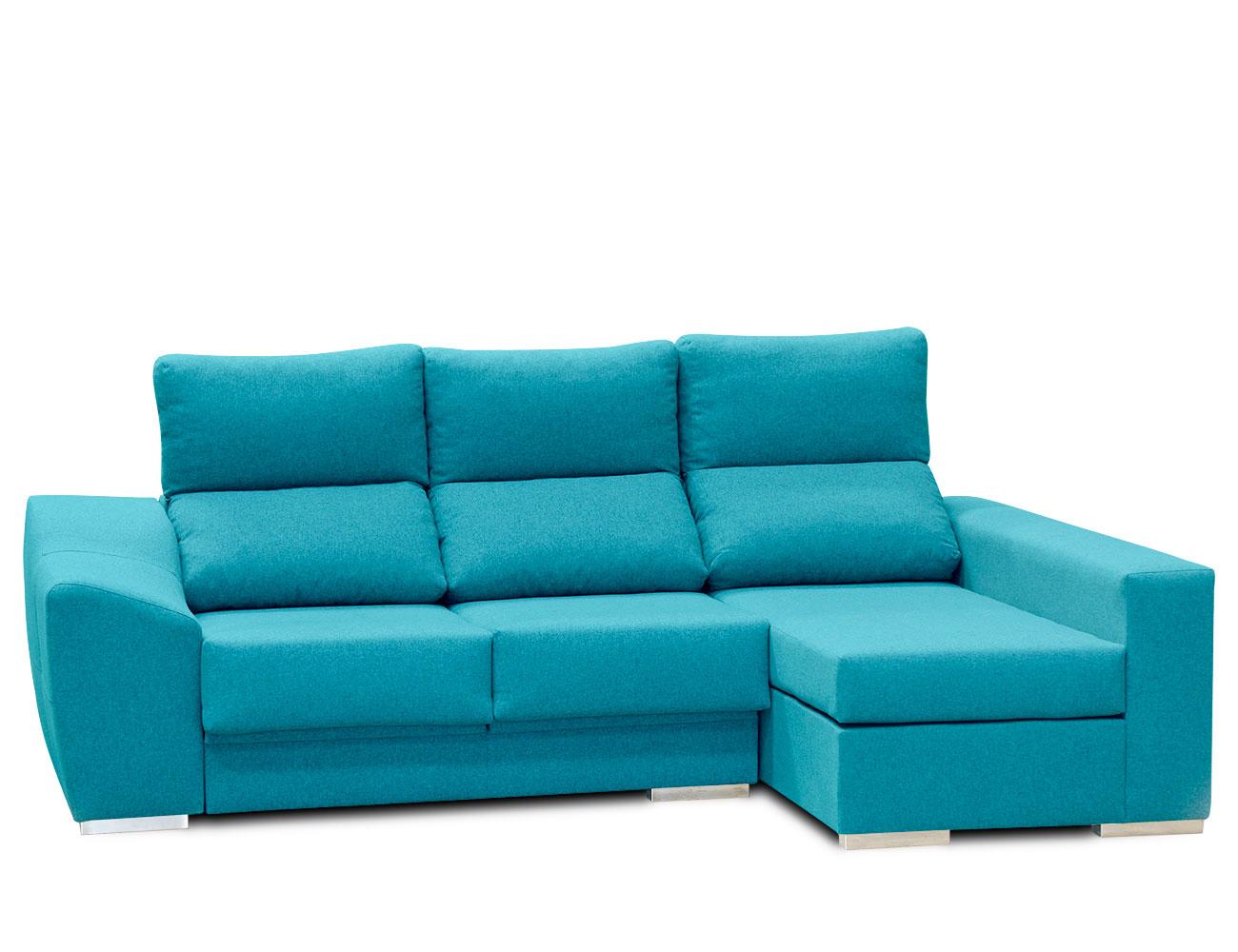 Sofa chaiselongue moderno turquesa 5