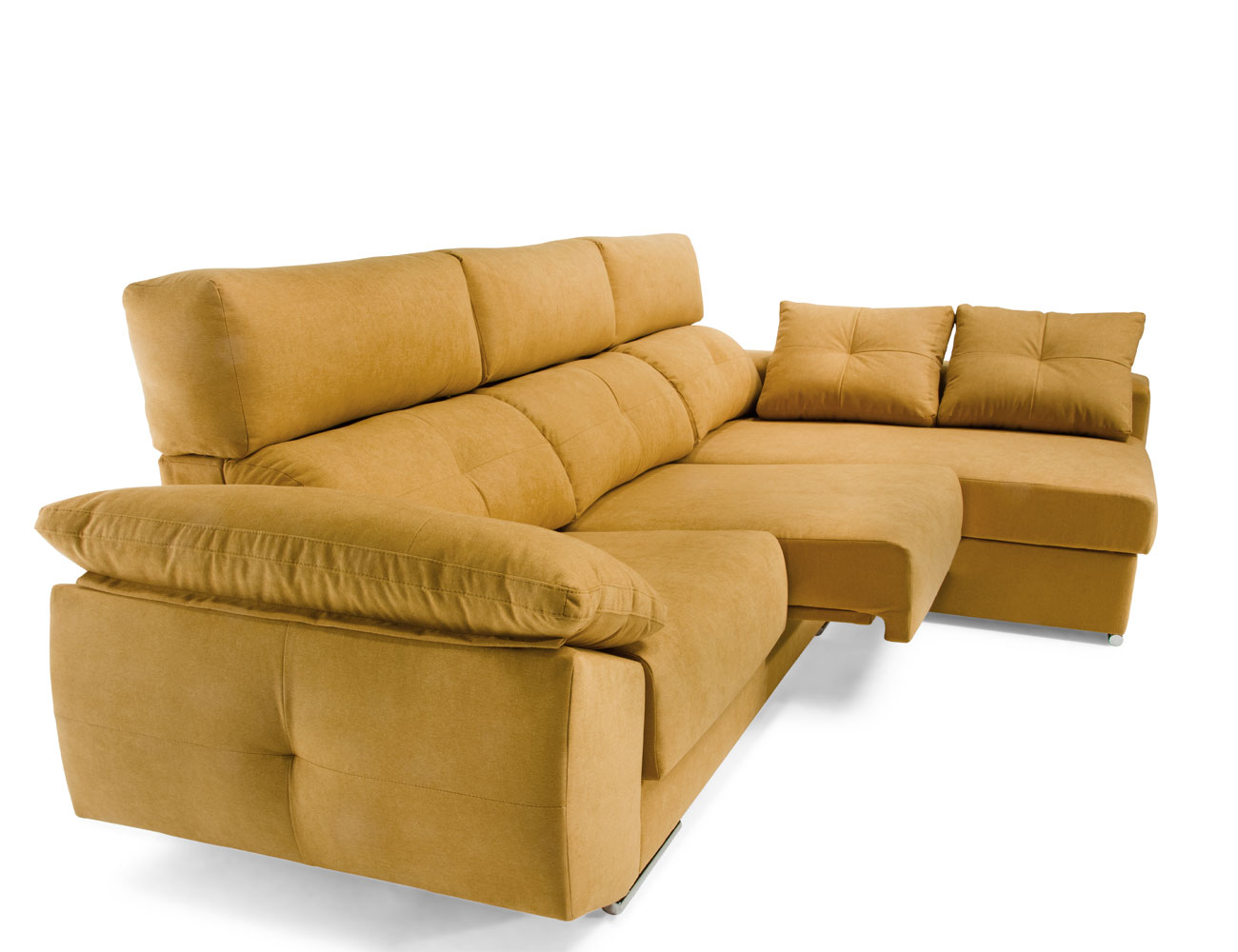 Sofa chaiselongue mostaza 1