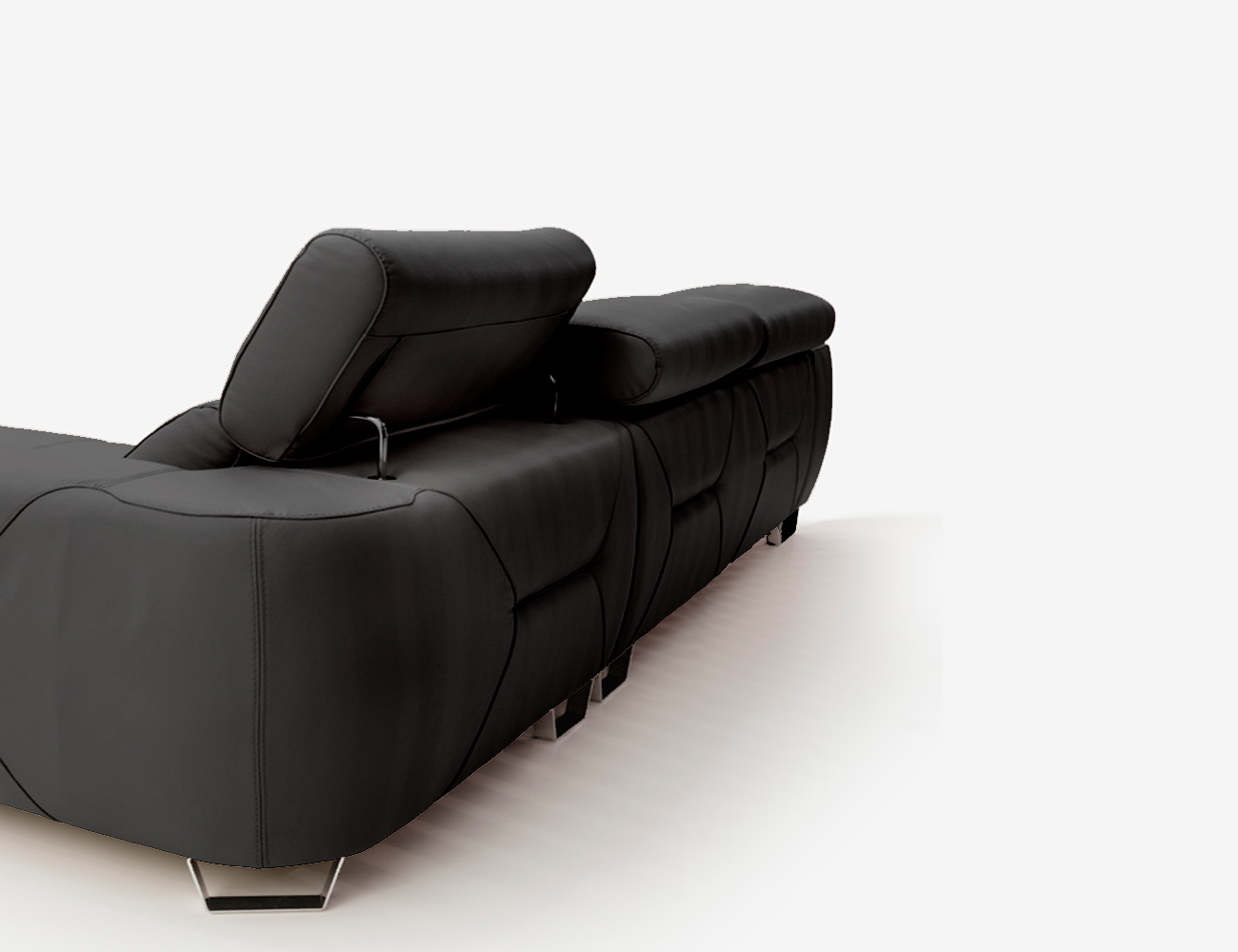 Sofa chaiselongue pedro ortiz piel espesorada antracita 2