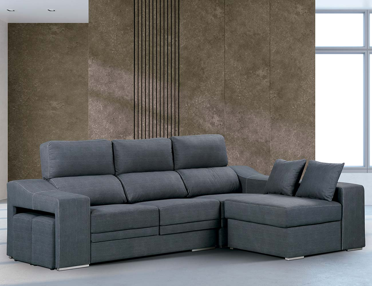 Sofa chaiselongue reversible marengo cesar 2