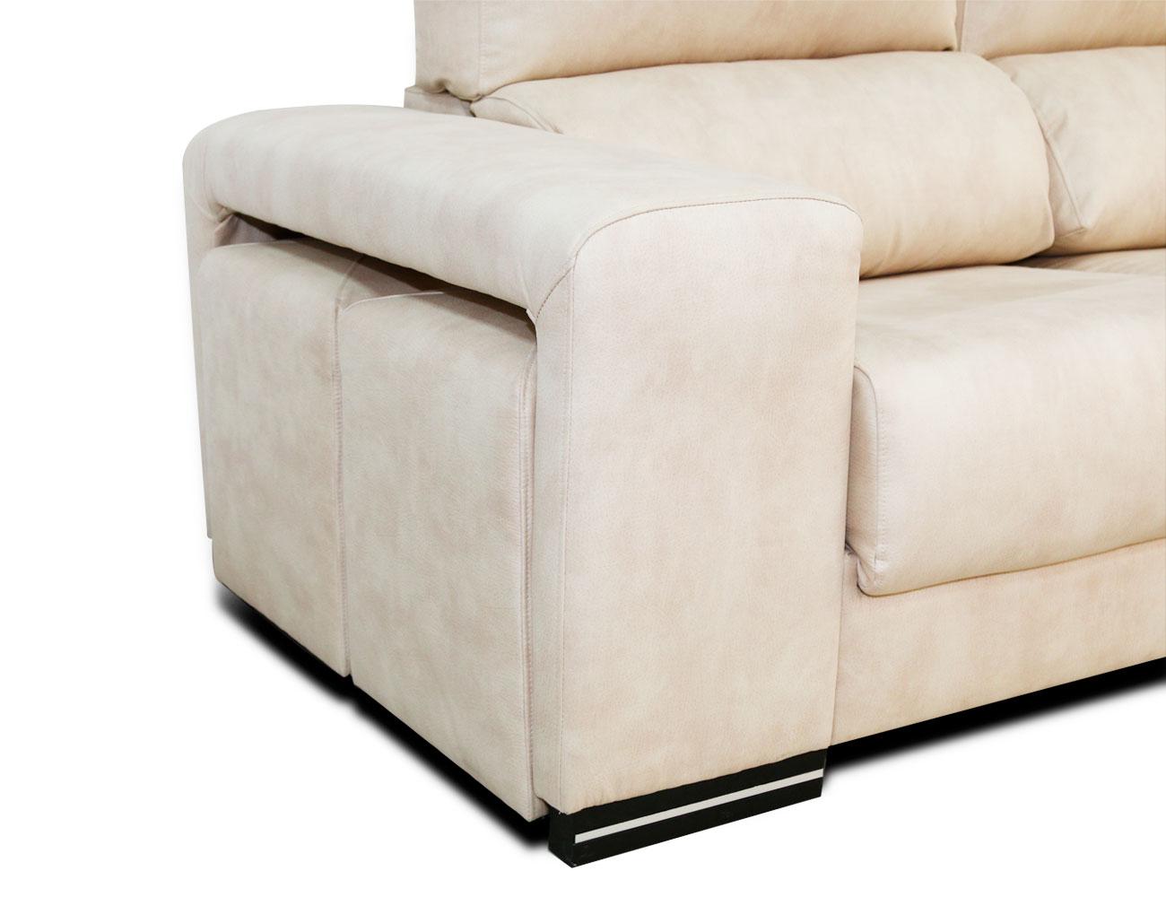Sofa chaiselongue rincon arcon puf taburetes surf blanco 1