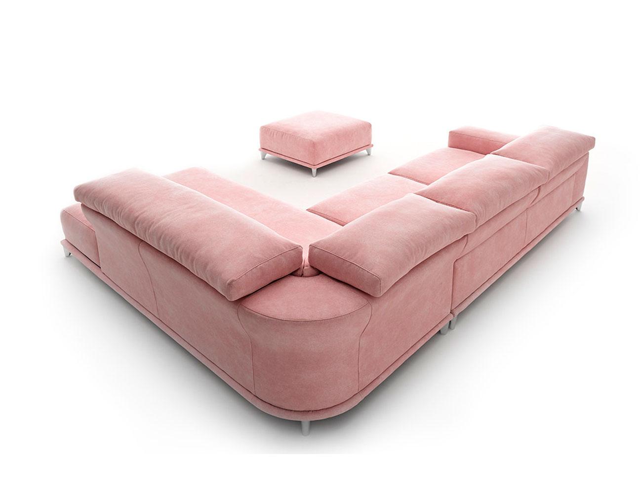 Sofa chaiselongue rincon moderno rosa 2