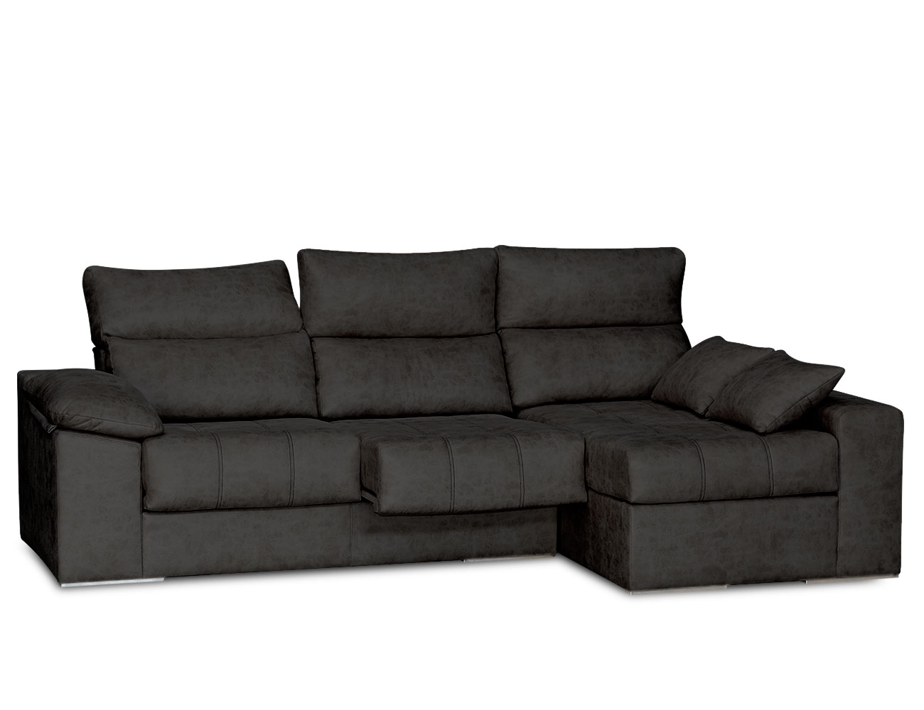 Sofa chaiselongue surf negro 11