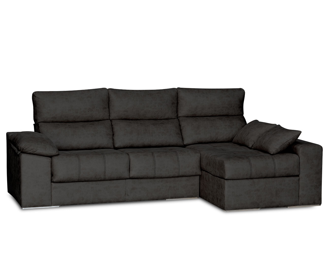 Sofa chaiselongue surf negro 2
