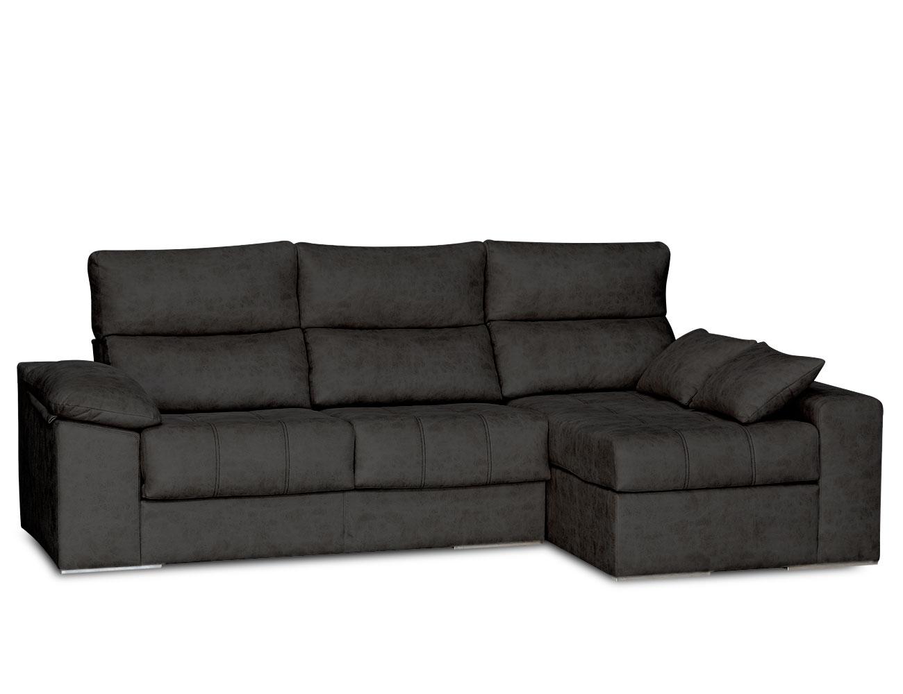 Sofa chaiselongue surf negro 2