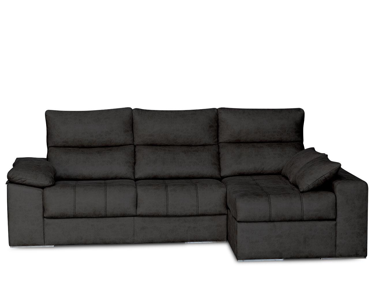 Sofa chaiselongue surf negro 3