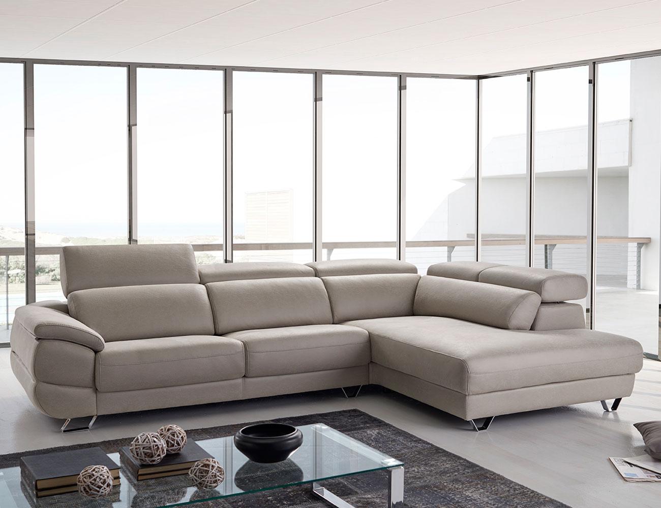 Sof dalmata de pedro ortiz con chaiselongue terminal rinc n 21809 factory del mueble utrera - Sofas pedro ortiz opiniones ...