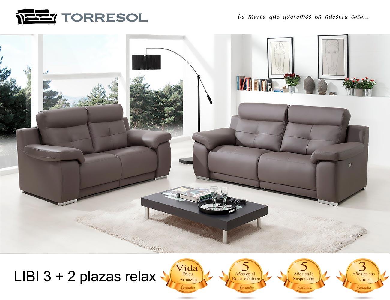 Sofa libi torresol en piel chocolate 21