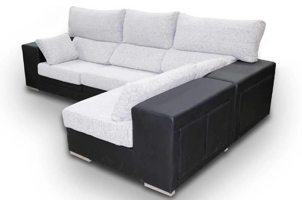 Sofa puff reversible 5 plazas 4 taburetes