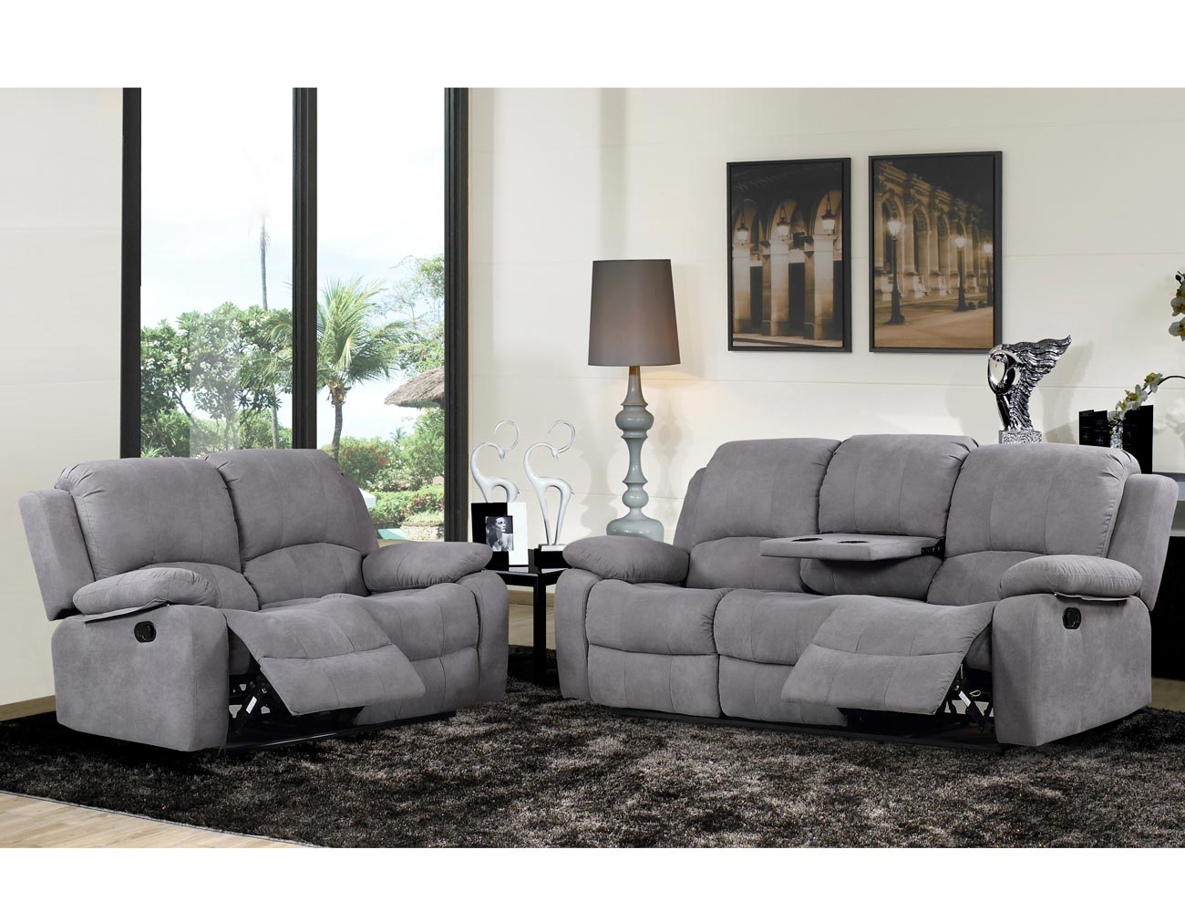 Sofa relax bandeja copas auxiliar 3 plazas conjunto1