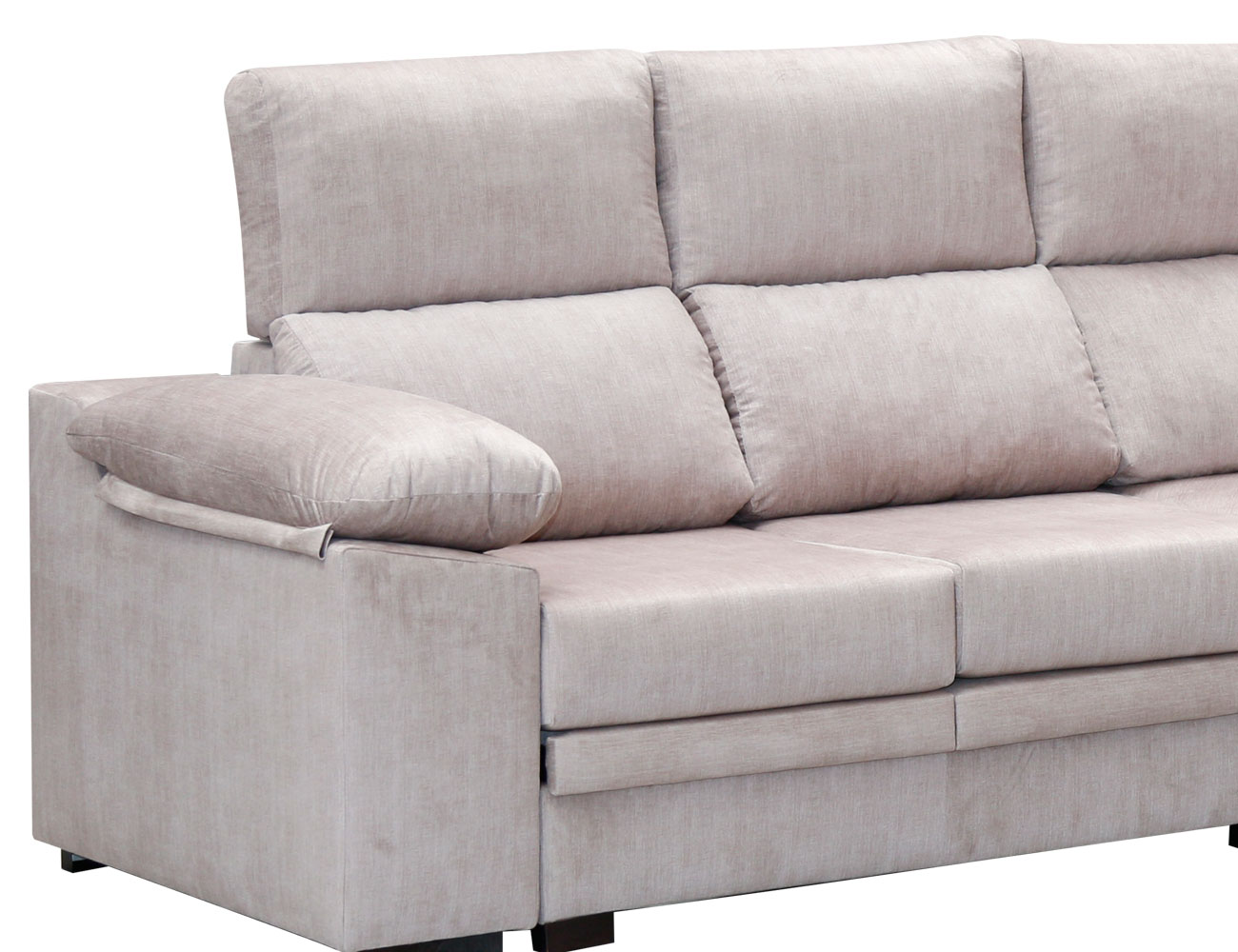 Sofa rincon rinconera beig pufs 3