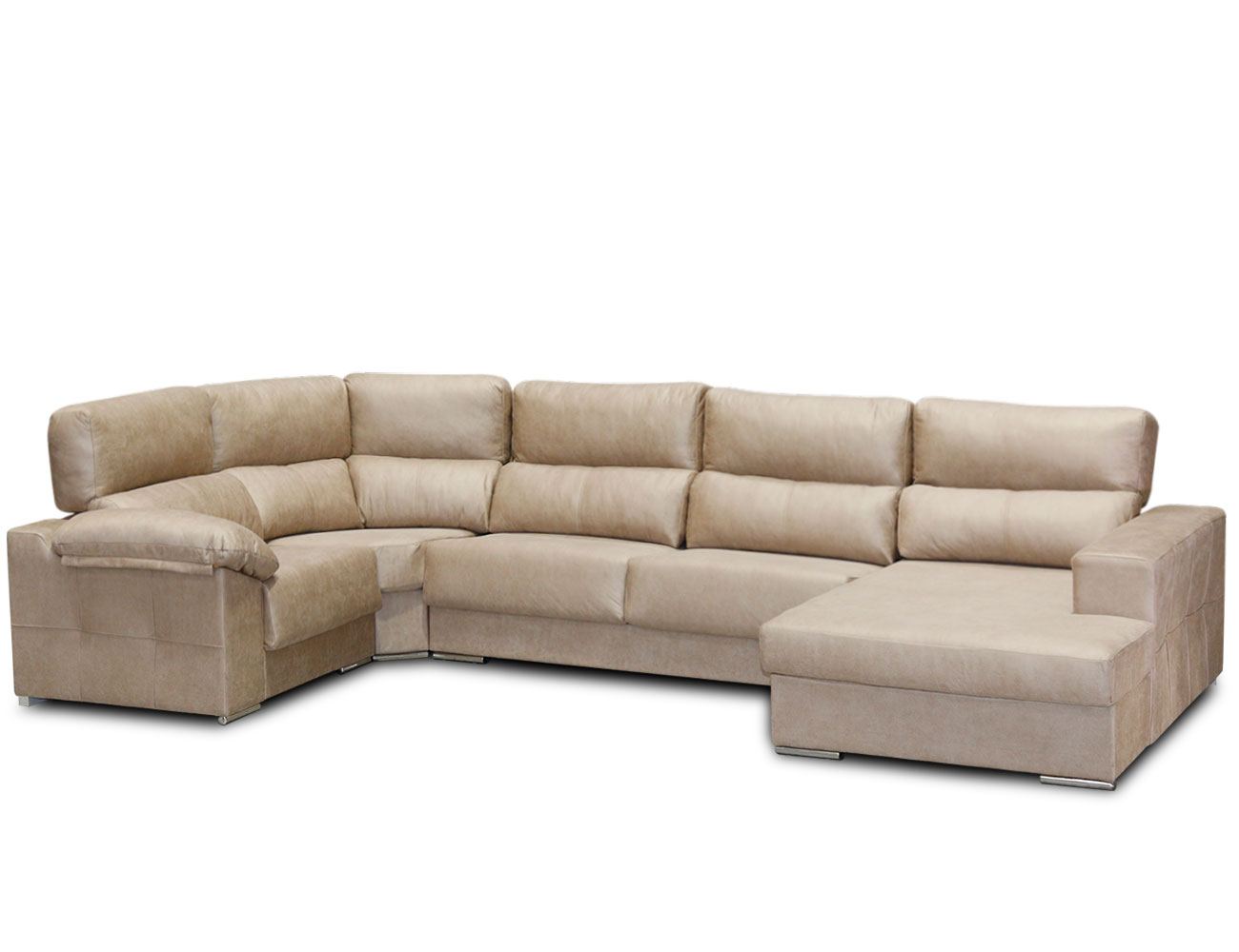 Sof rinconera chaiselongue con forma de u en tejido anti - Tejidos para sofas ...