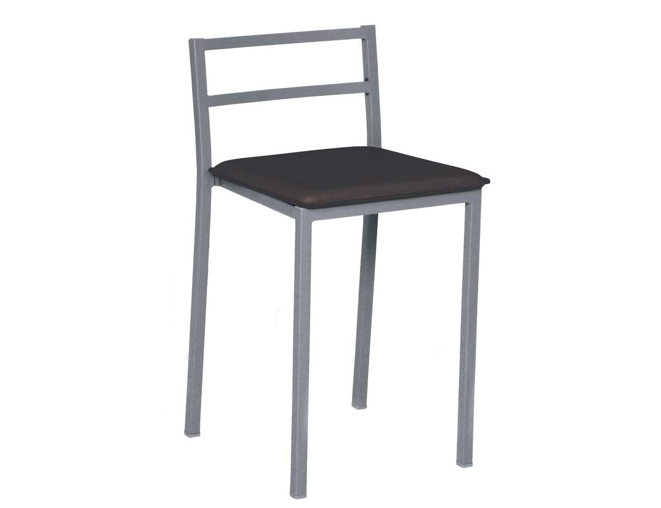 Taburete bajo asiento polipiel 255 negro