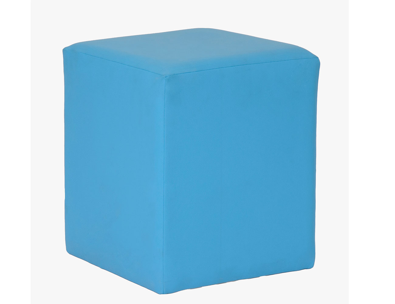 Taburete cubo azul