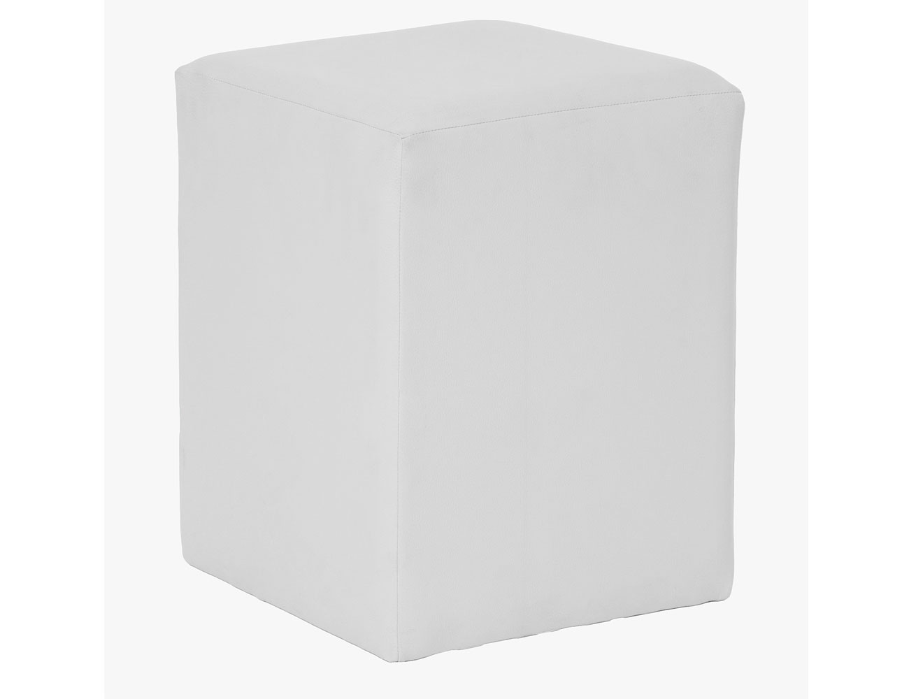 Taburete cubo blanco