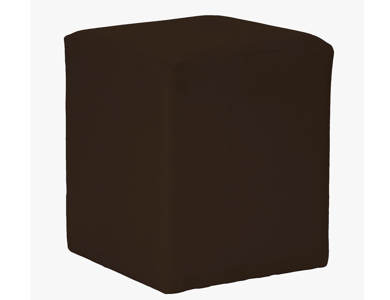 Taburete cubo chocolate