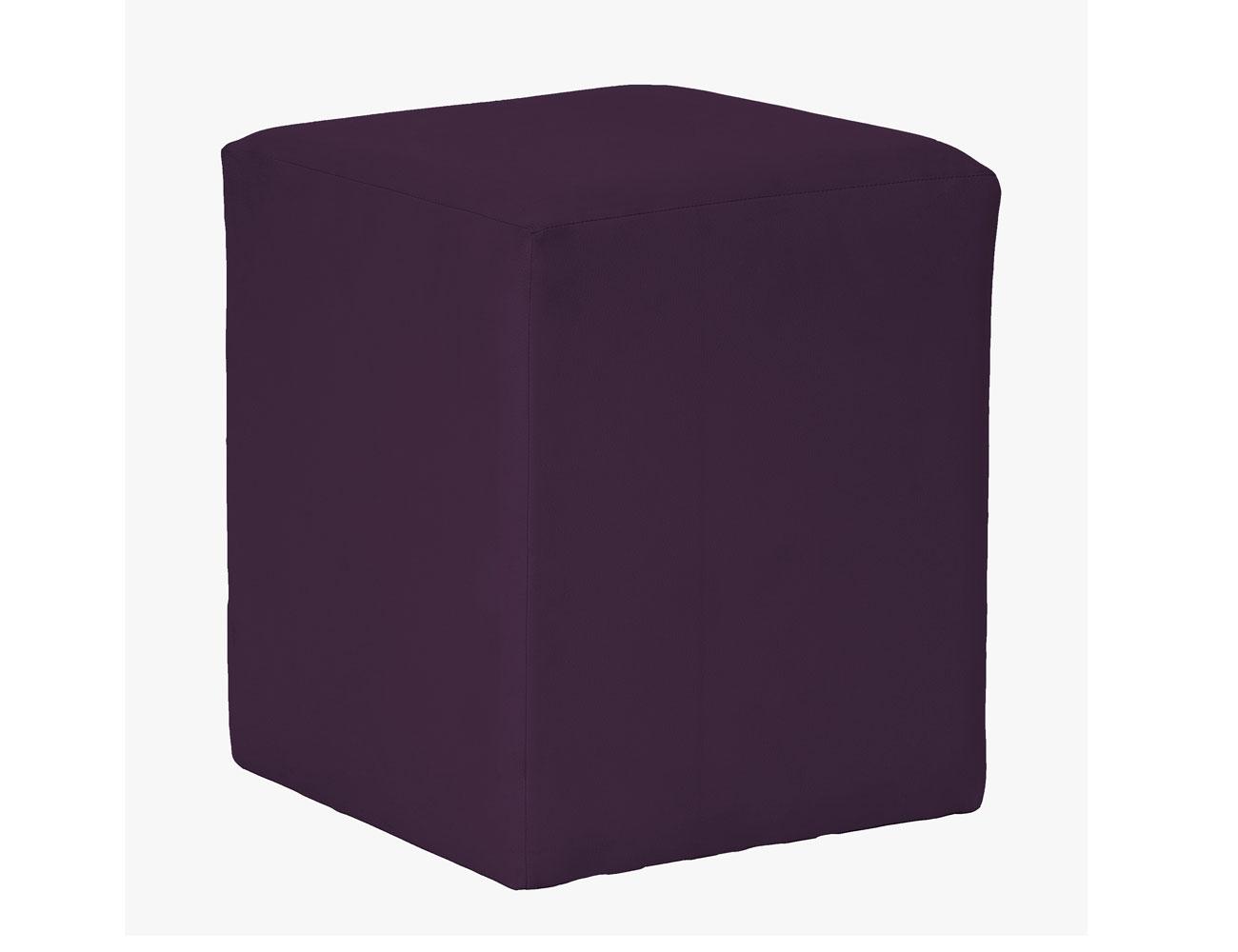 Taburete cubo morado