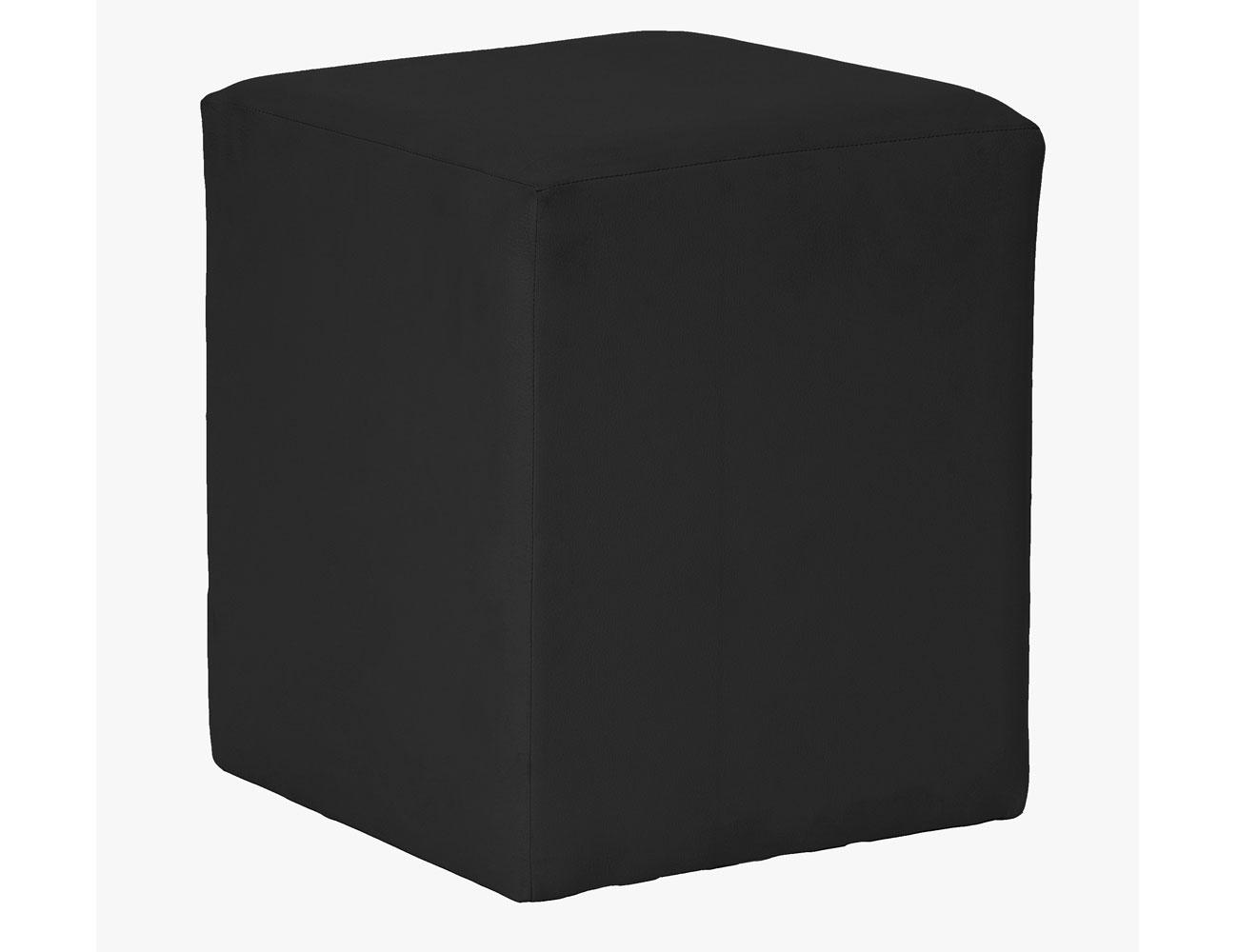 Taburete cubo negro