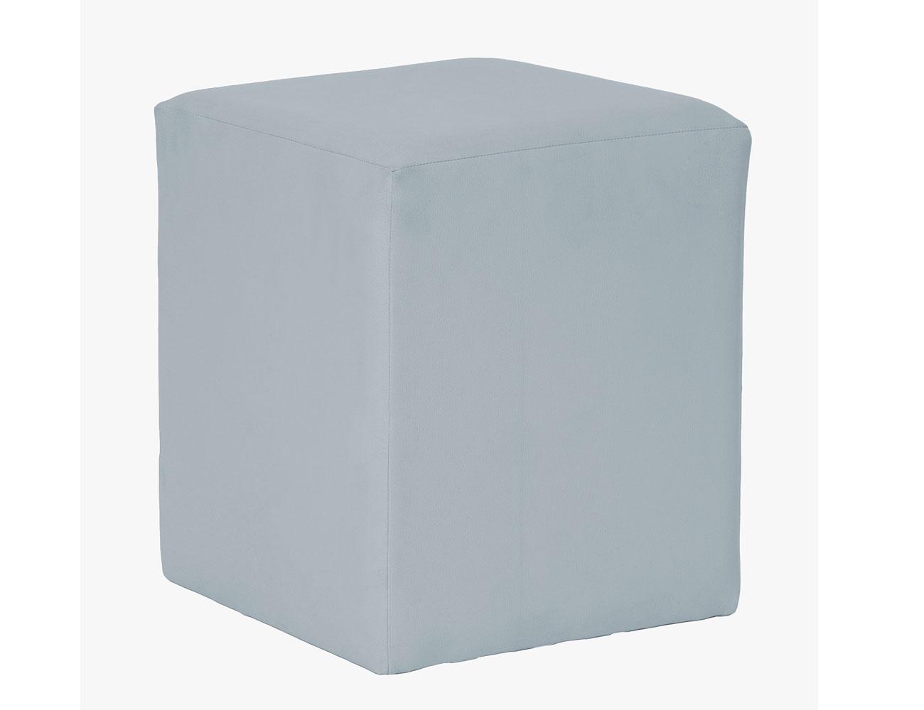 Taburete cubo plata