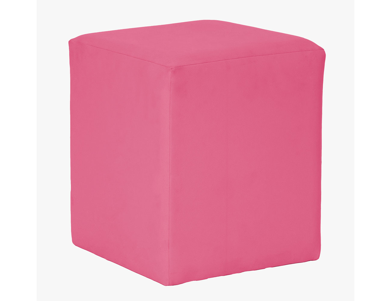 Taburete cubo rosa