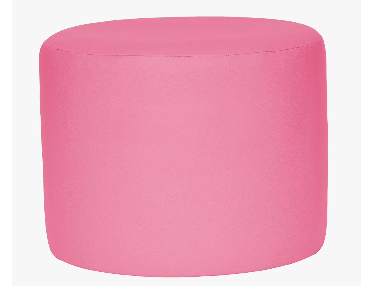 Taburete redondo rosa