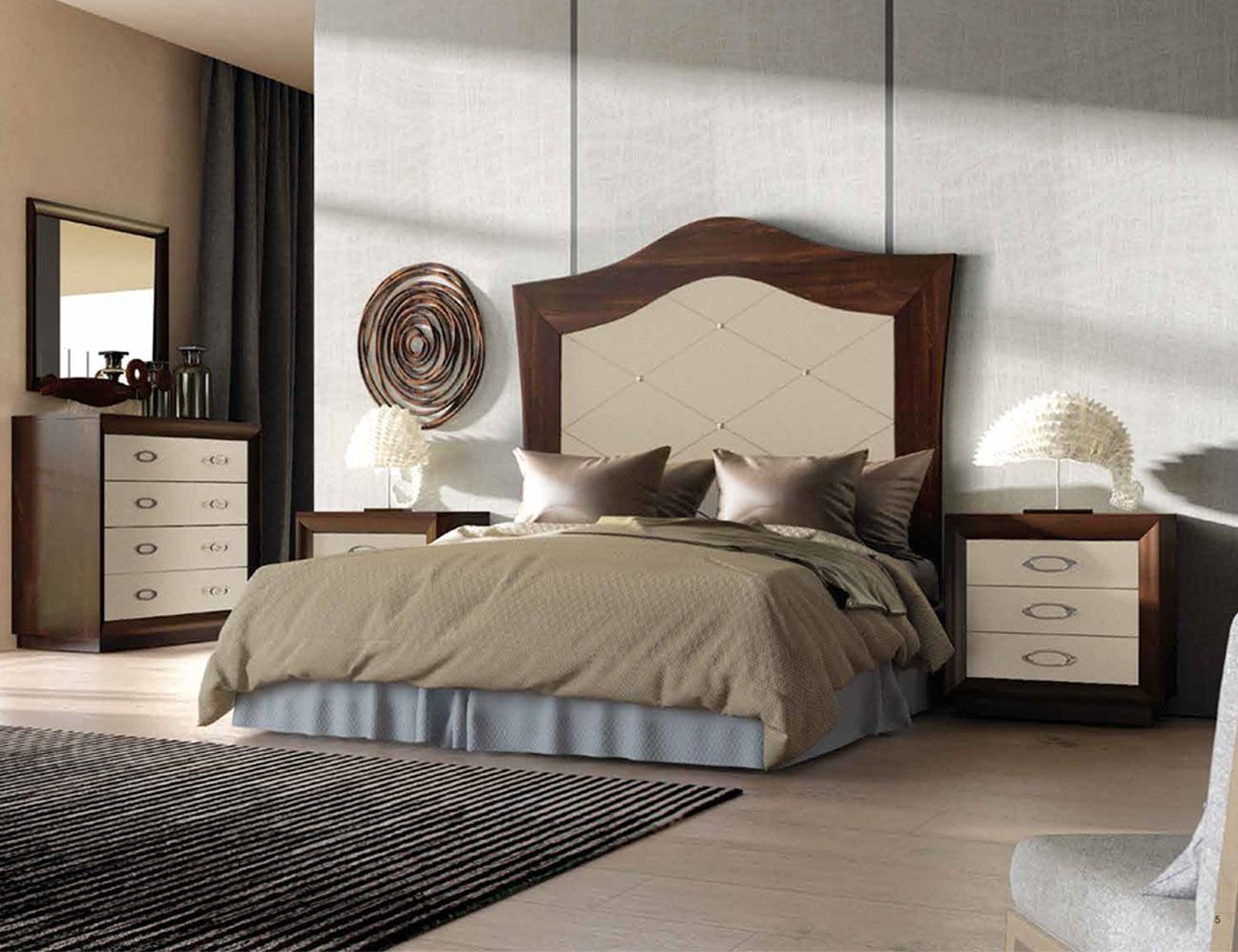 002 dormitorio matrimonio cabecero alto nogal frentes champagne zocalo