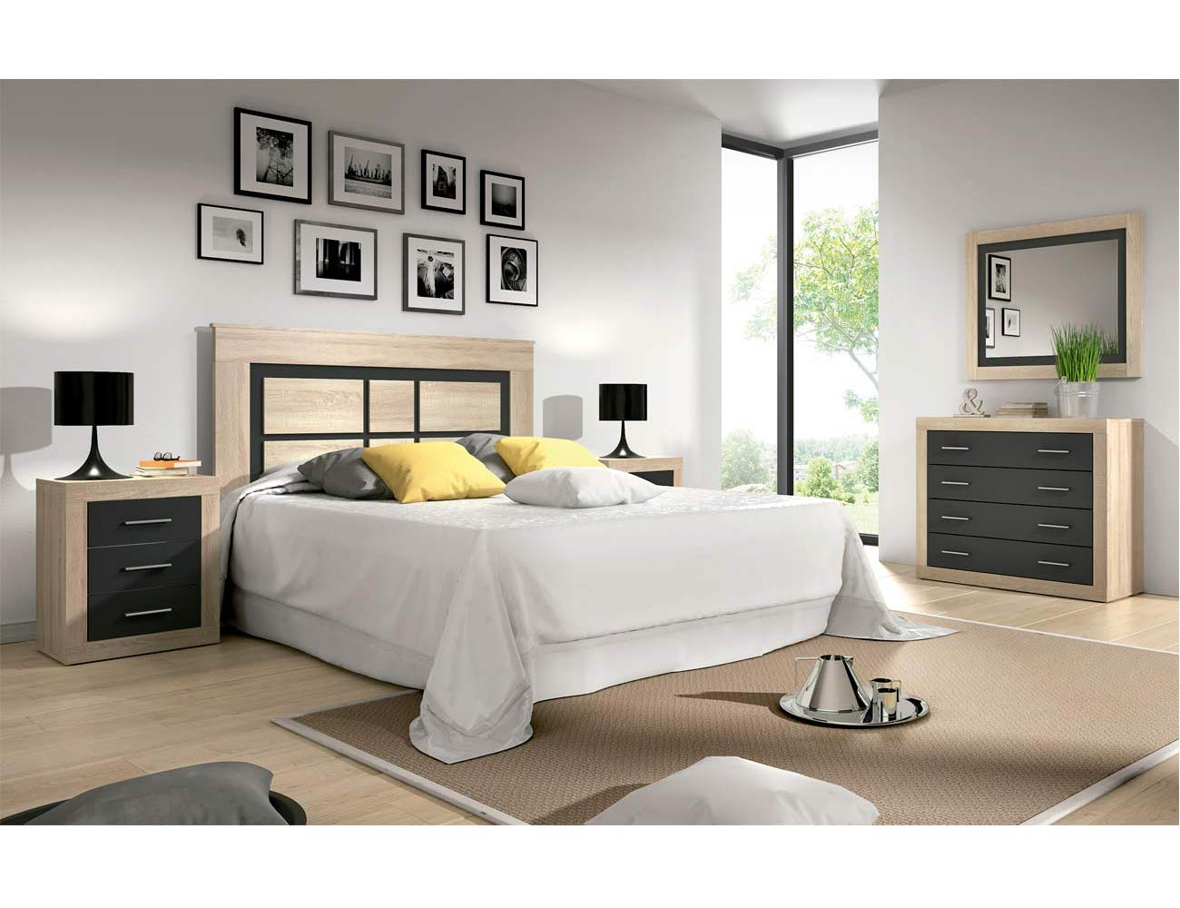 01 dormitorio matrimonio comoda cambrian grafito