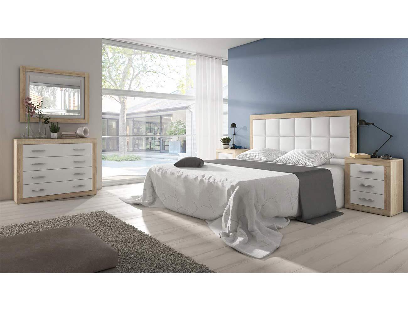 Dormitorio de matrimonio moderno con cabecero polipiel en for Comoda matrimonio