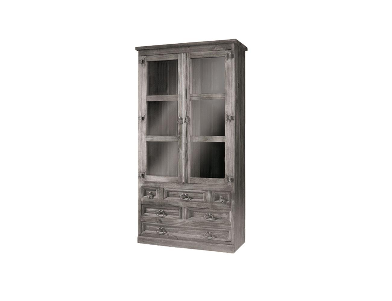 0610801 vitrina jalisco 2 puertas madera 105 200 44