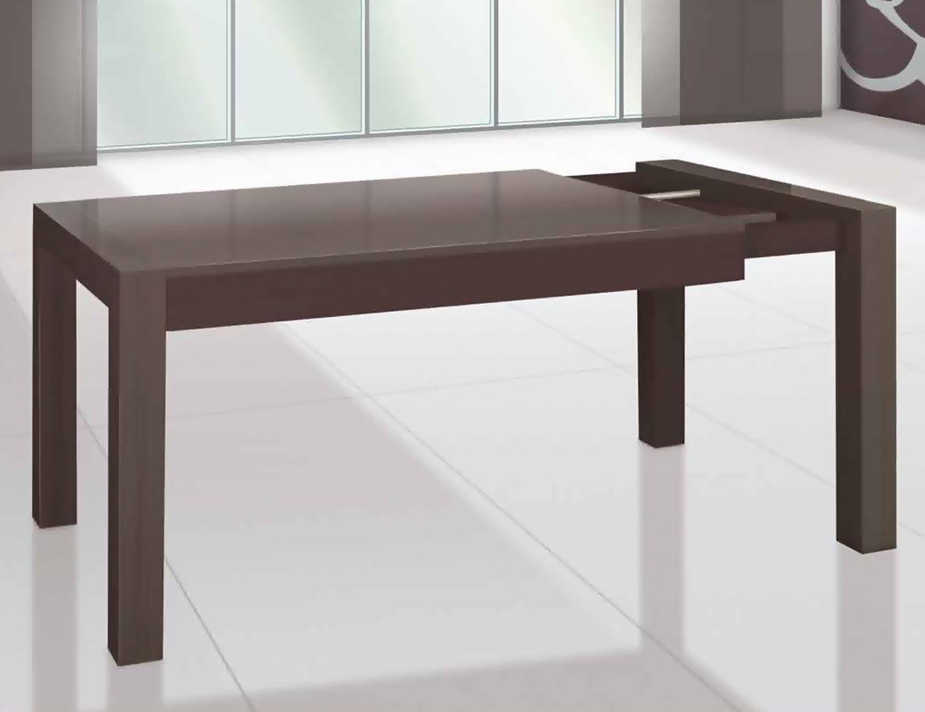 Mesa comedor extensible con carro met lico en madera - Mesas comedor extensibles madera ...