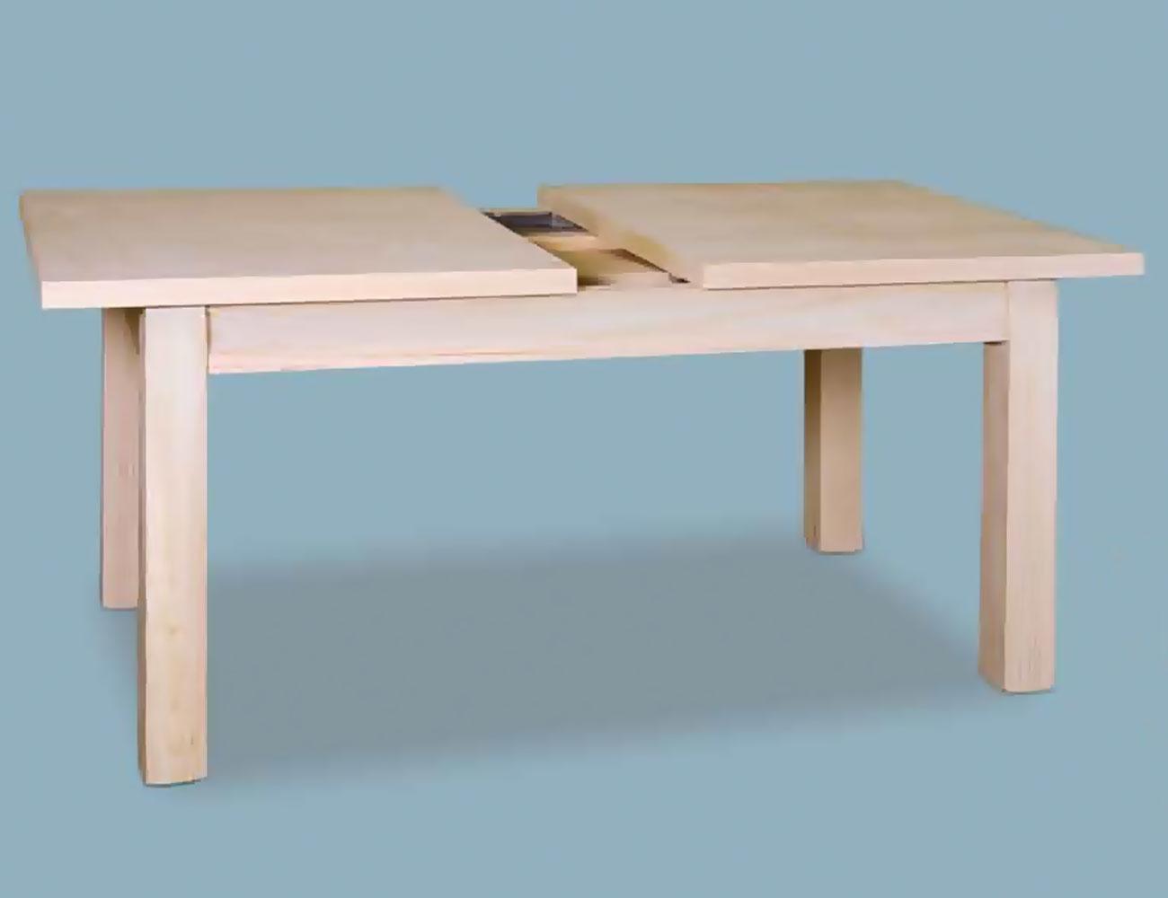 Mesa comedor extraible tapa 40 140 cm en madera con patas for Mesa comedor 3 metros