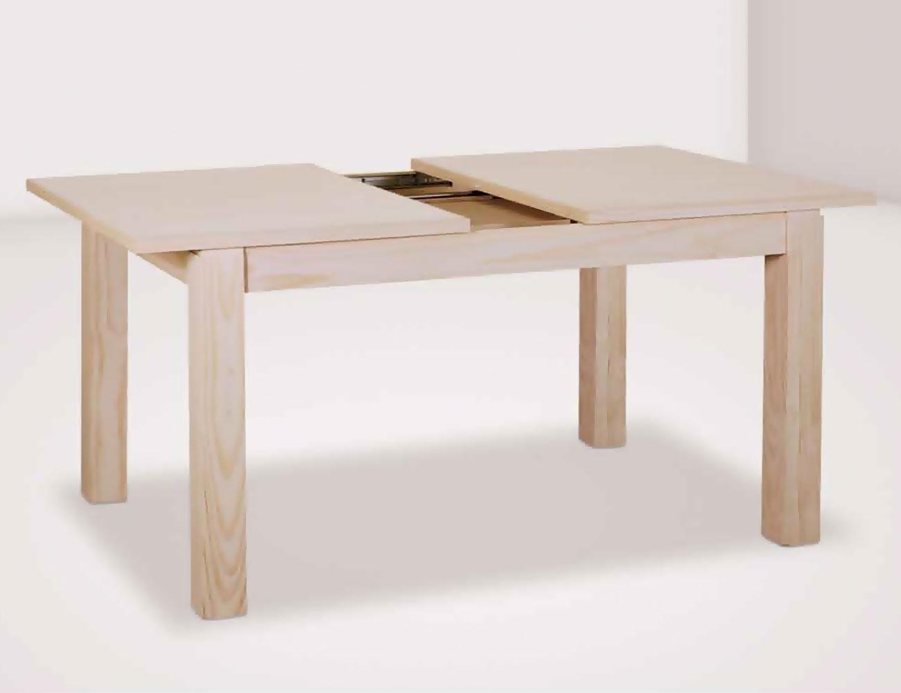 Mesa comedor extraible tapa 26 140 cm en madera con patas for Mesa 80x80 extensible a 120