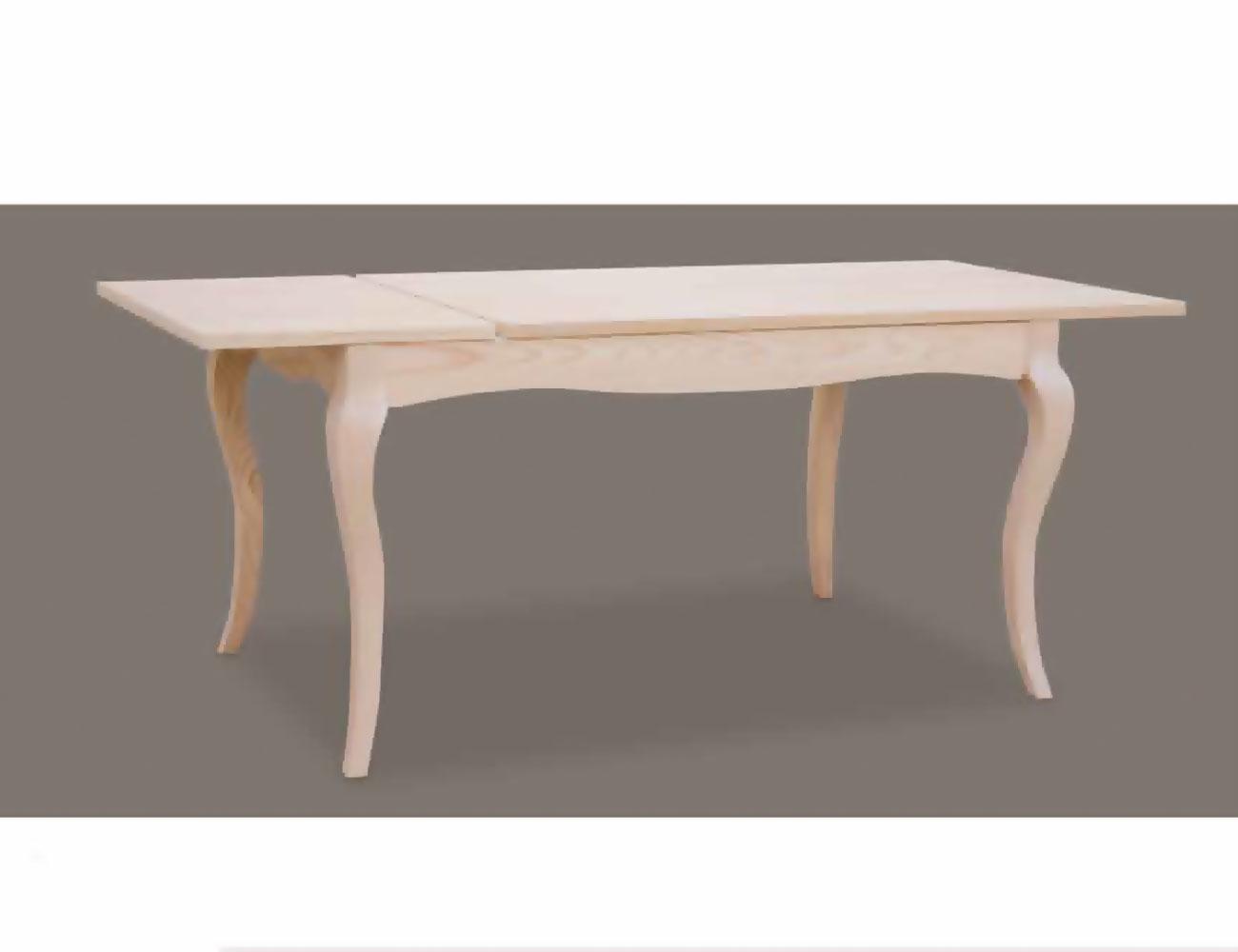 Mesa comedor extensible 140 cm en madera con patas for Mesa madera extensible