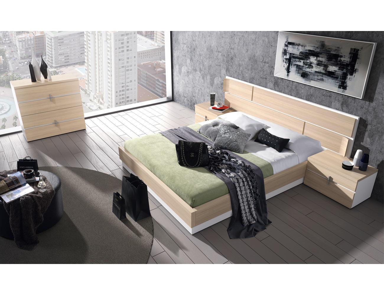 107 dormitorio matrimonio roble nordico blanco comoda bañera