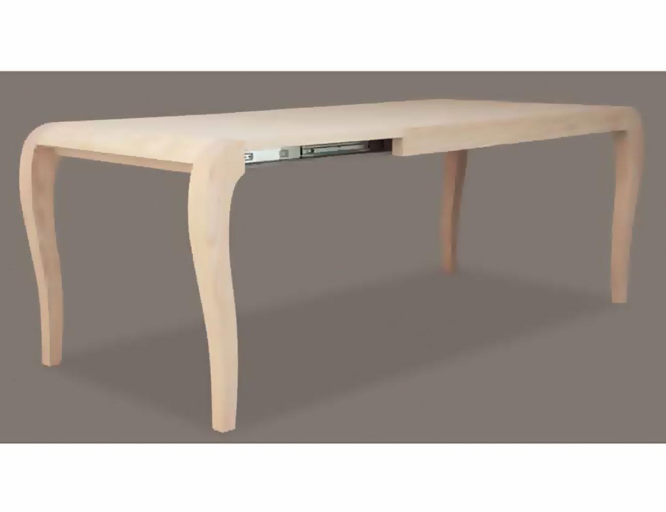 Mesa comedor fija 140 cm en madera con patas isabelina for Mesa 60 x 60 extensible
