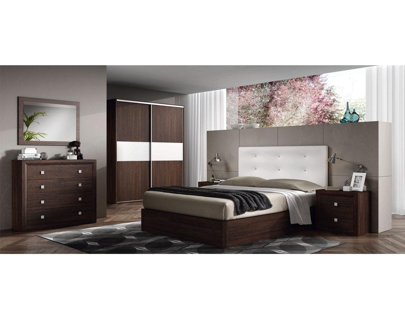 12 dormitorio matrimonio cabecero tapizado comoda wengue1