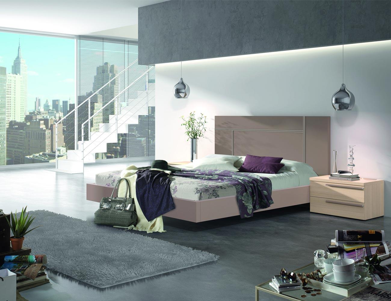 127 dormitorio matrimonio moka roble bañera
