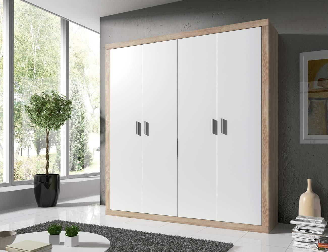 14 armario 2 puertas abatibles cambrian blanco