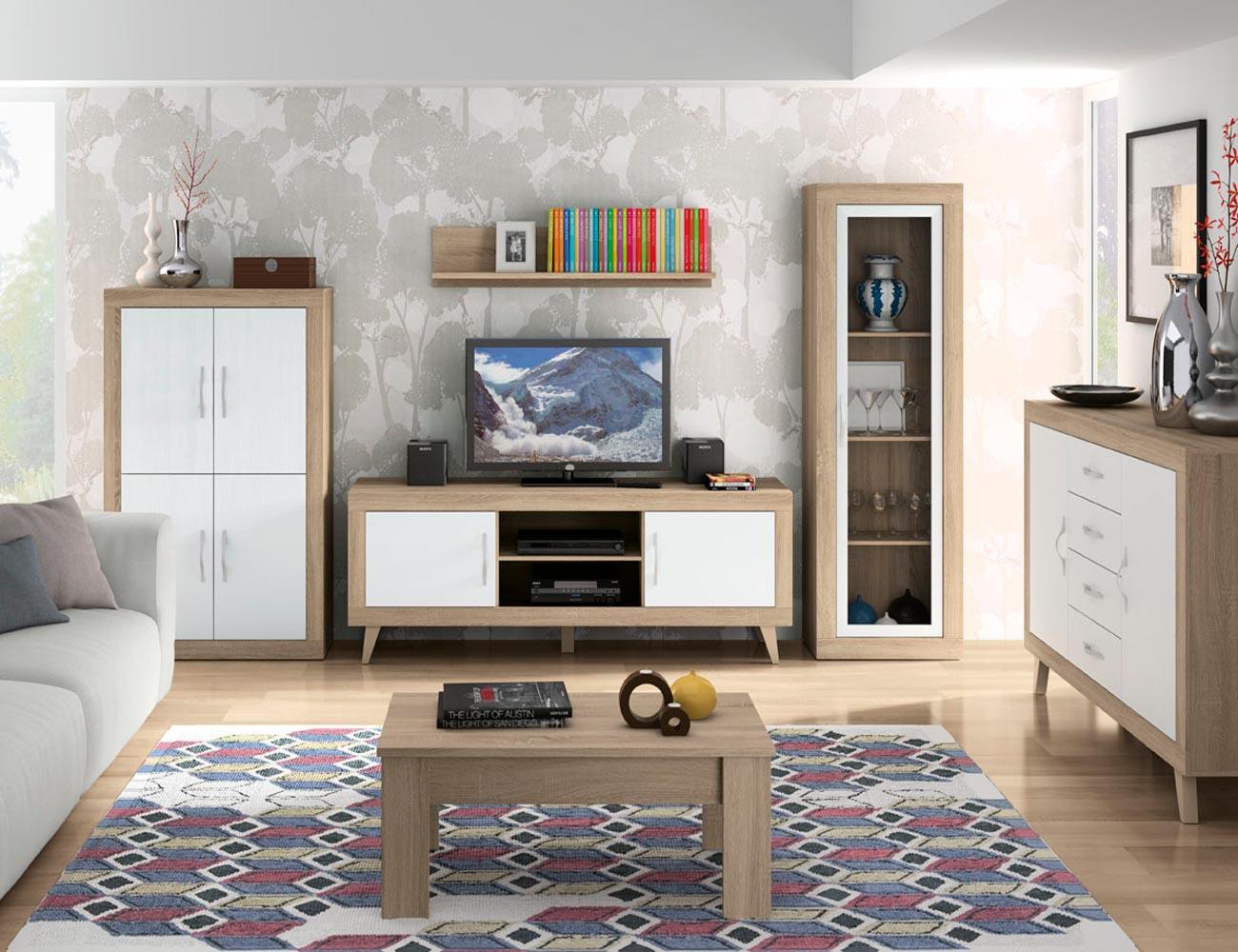 152 mueble salon comedor modulo bodeguero cambrian soul blanco