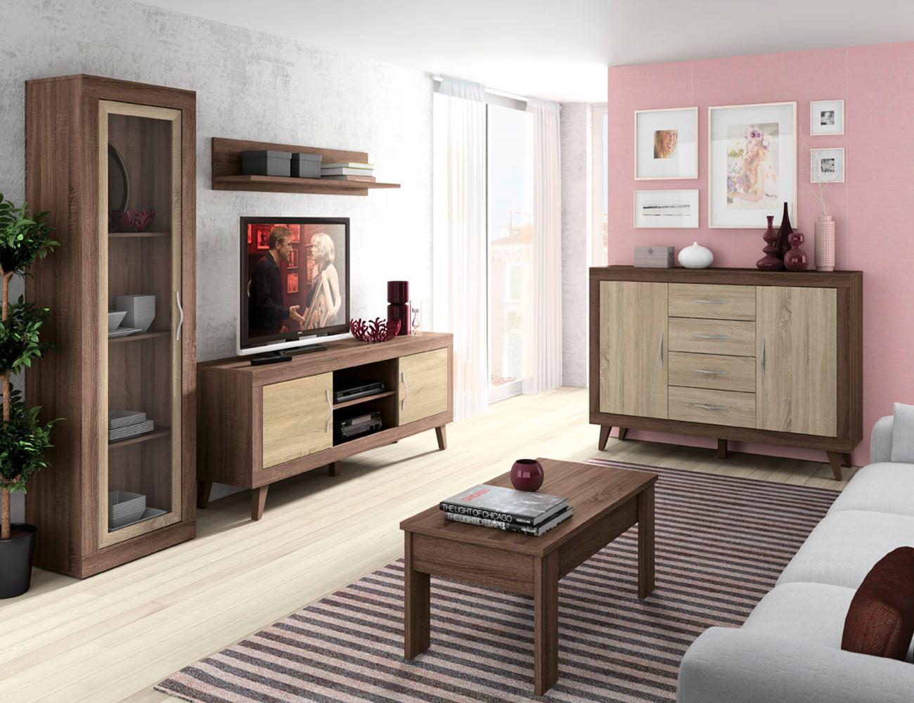 168 mueble salon comedor vitrina bajo tv mesa centro britannia cambrian