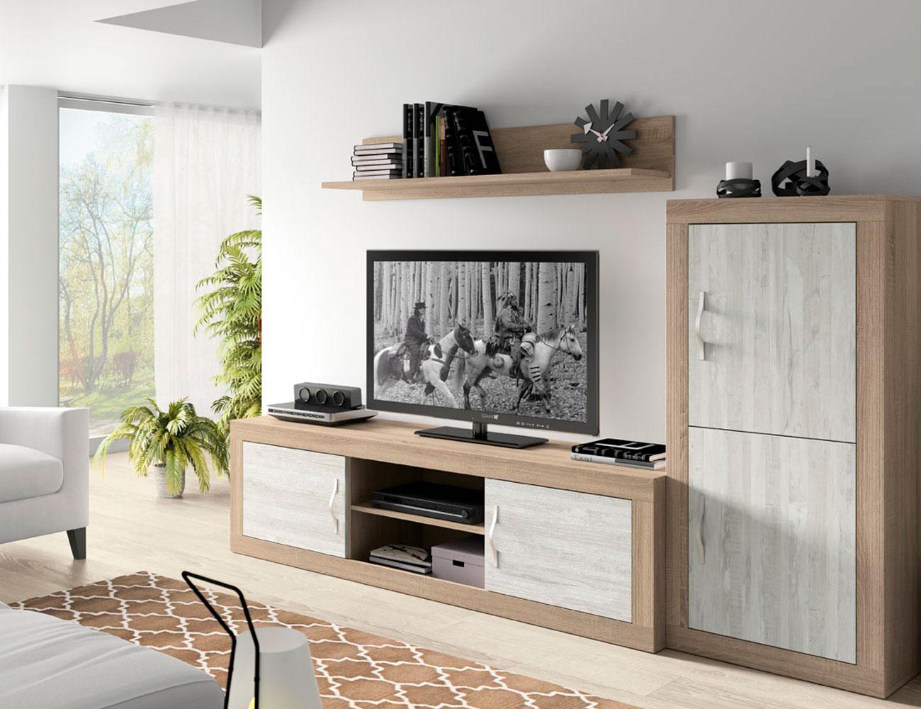 172 mueble salon comedor bodeguero tv cambrian artic