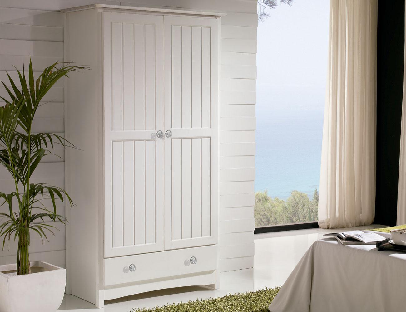 Armario 2 puertas en blanco lacado (8057) | Factory del Mueble Utrera