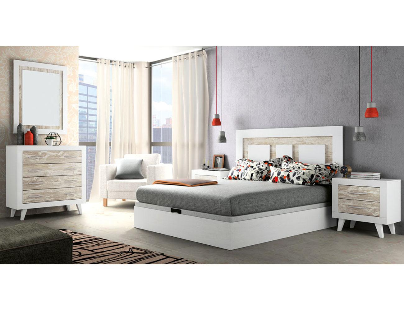 283 dormitorio matrimonio soul blanco vintage