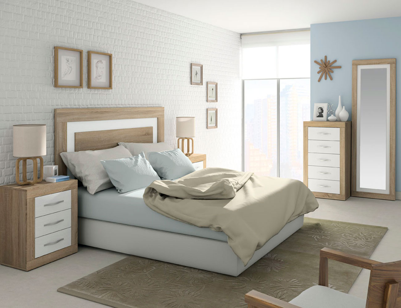 284 dormitorio matrimonio cambrian soul blanco