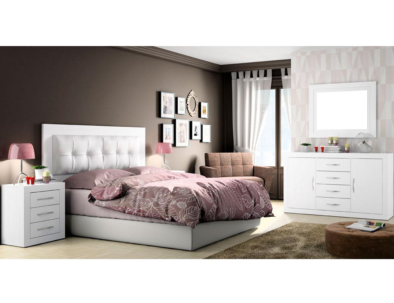 290 dormitorio matrimonio soul blanco tapizado blanco