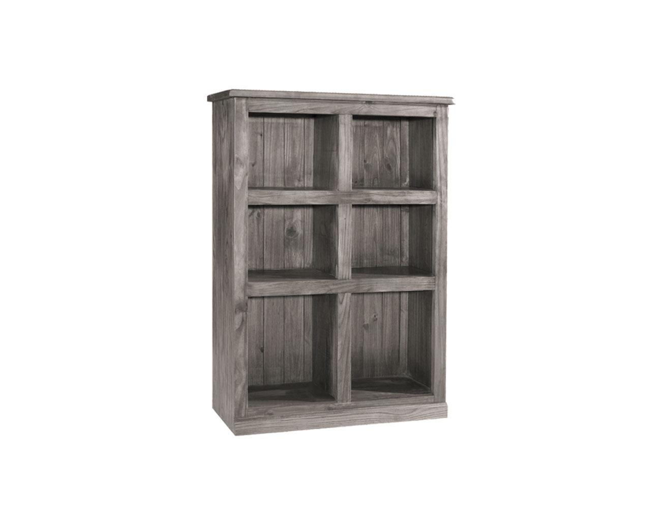 3410821 modulo 6 estantes jalisco madera 100 142 44