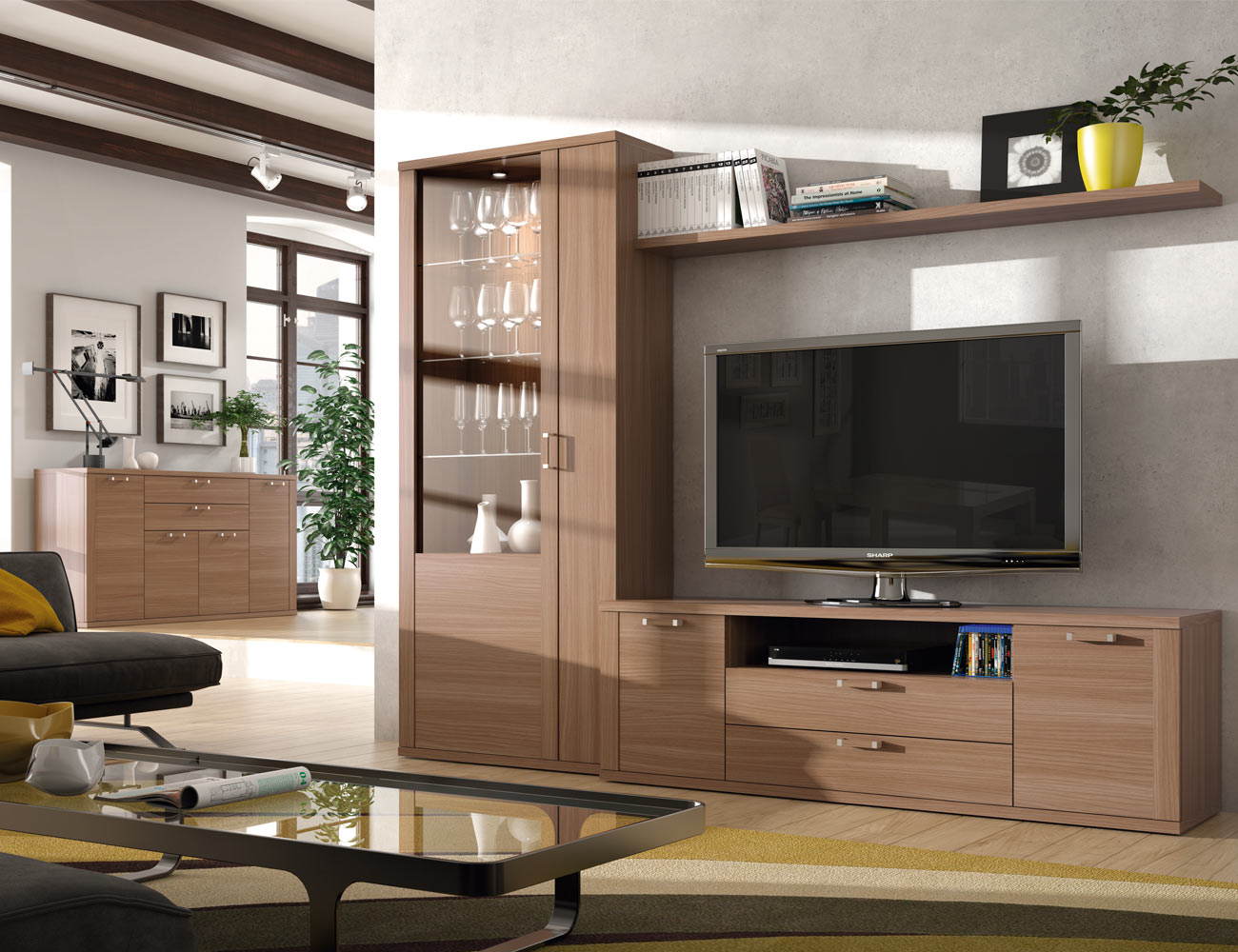 417 mueble salon comedor vitrina tv