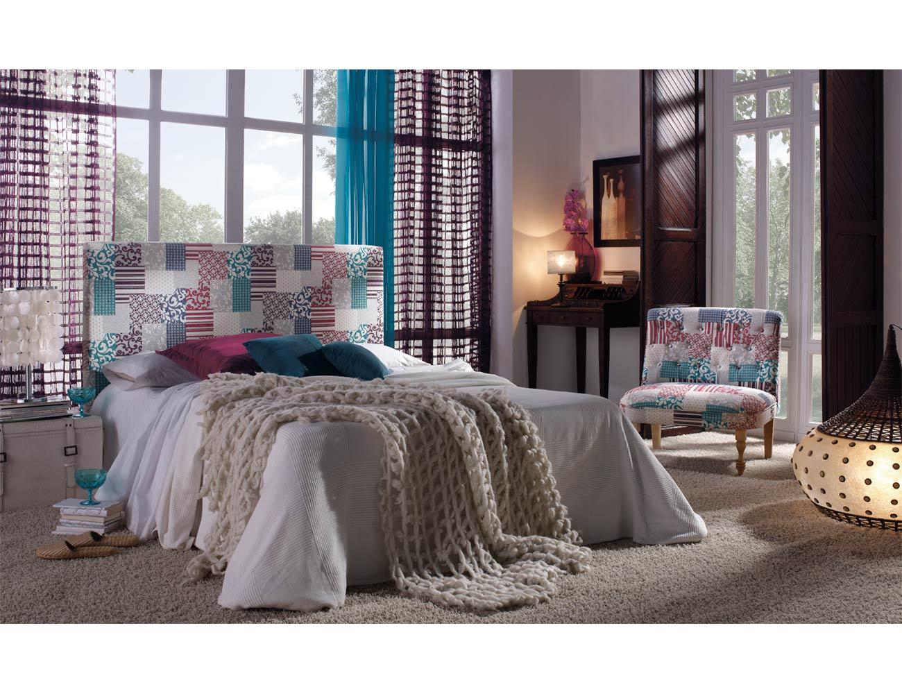 Dormitorio de matrimonio con cabecero en varios colores 15283 factory del mueble utrera - Factory del mueble utrera ...